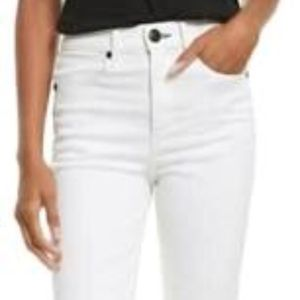 Rag&Bone High Rise White Cigarette Ankle Jeans 28